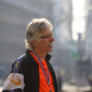Harm Boerma loopt op zijn zestigste verjaardag de Marathon van Rotterdam.
