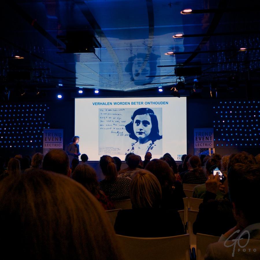 Lectric Trend Event (23-09-2015 ). Spreker Paulus Veltman vertelt over de kracht van verhalen.